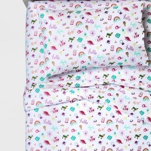 NEW Pillowfort Doodle Darlings Sheet Sets, Full